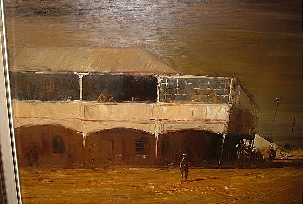 Listed Artist  LARGE Oil on Board Colin Parker Australia 1970 Queensland From Kentucky Estate
