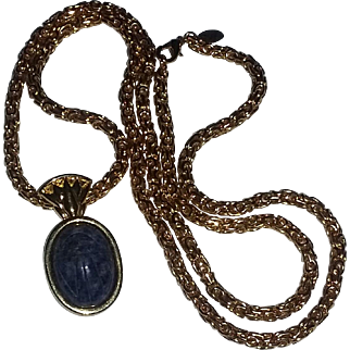 Vintage Signed Kenneth Lane Scarab Egyptian Necklace