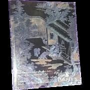 Christine's Auction Catalog Catalogue Book Reference Chinese Oriental Art Bronze Ceramics Jade etc 1996