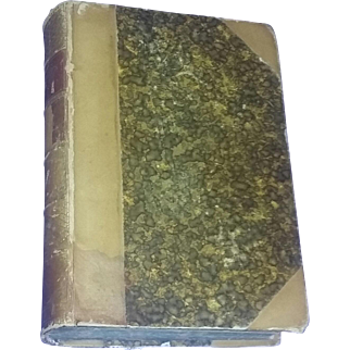 Antique Rare Leather Classic Book Vanity Fair Thackeray 1883