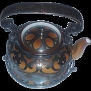 Old Vintage Art Deco Era Rosenthal Silver Teapot marked