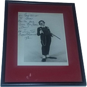 Vintage Signed Autographed Circus Clown Old Photo Photograph Picture