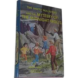 Children's Book Hollisters Midnight Trolls Rare Dust Cover