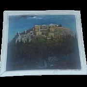 Antique Plein Air Oil Painting