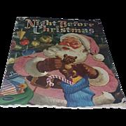Vintage Children's Christmas Book 50's Santa Claus Rare Night before Christmas