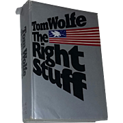 Book The Right Stuff Astronauts First Edition Dust Cover Jacket 1979 Wolfe