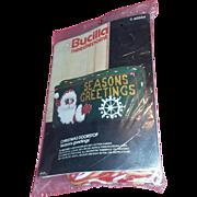 Vintage Bucilla Christmas Kit Cross Stitch Santa Doorstop Embroidery