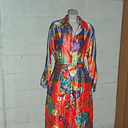 True Vintage MOD Maxi Dress Op Art New Old Stock RARE Quilted Fall Womens