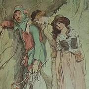 Old Hardback Book As You Like It Shakespeare Fabulous Illustrations