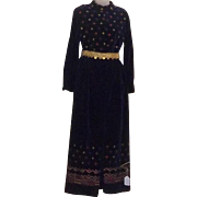 True Vintage RARE Mod Maxi Dress Skirt Hot Pants Jumpsuit Velvet Designer BOHO 70's St Louis Valentines Day