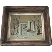 Surrealist Illustrator Rockwell Comtemporary Listed Artist John Atherton (1900-1952)  MAGIC REALIST Surrealism Signed Original Oil Painting  Variation on a theme by Weston Modern Art 1940's