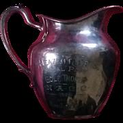Art deco era 20s golf trophy silver plate pitcher