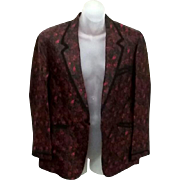 Tru Vintage 50's 60's Silk Chinese Tuxedo Smoking Jacket estate
