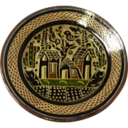 Tlaquepaque Charger Plate LARGE Vintage Art Pottery Ethnic Mexico Mexican folk art