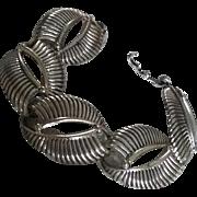 Vintage Sterling Silver Mid Century Modern Modernist design 60's rare Danecraft bracelet estate