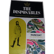 Vintage 60's iconic Mod paper Raincoat Coat Old stock new in box estate scarce