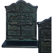Cast Iron Vintage Old Bookends Books SCARCE  Shakespeare library estate