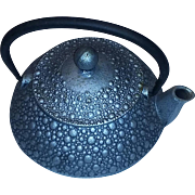 Vintage Old Cast Iron Teapot Oriental Meiji Japanese estate