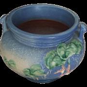 Vintage Art Pottery Roseville Vase Blue Flowers Freschia