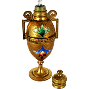 ON HOLD for LC - Grand Tour French c 1870 Scent Perfume Bottle – Dore Bronze & Enamel