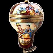 Vinaigrette Viennese Enamel Figural Hot Air Balloon Form Pendant – C 1880