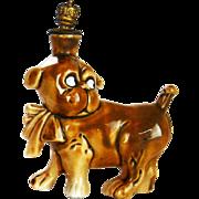 Vintage Dog Crown Top Perfume Scent Bottle