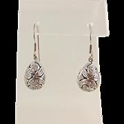 Sterling Silver Cubic Zirconia Filigree EGG Earrings