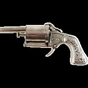 Antique Novelty Figural Perfume Atomizer Revolver Pistol Form – c 1900