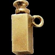 Vintage 14 K GOLD Miniature Scent Perfume Bottle Charm