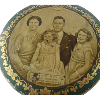 1939 Royal Family Visit Canada, USA - Huntley Palmer Biscuit Tin