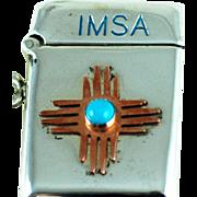 IMSA 1999 ZIA Match Safe Vesta Sterling Silver - Albuquerque