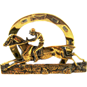 Victorian Bronze Equestrian Letter Rack – Horse and Jockey