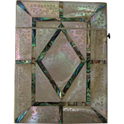 Victorian Mother of Pearl and Abalone Shell Calling Card Case