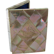 Victorian Mother of Pearl Calling Card Case - Book Form