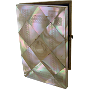 Victorian Mother of Pearl Calling Card Visitor Case - Book Form