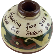 Aller  Vale Motto Pottery Inkwell - c 1900