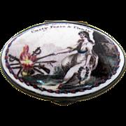 Battersea Bilston Enamel – Unity Peace & Plenty – Patch Box C 1780