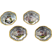 Set Four 18th c Battersea Bilston Enamel Gaming Gambling Trays – c 1780