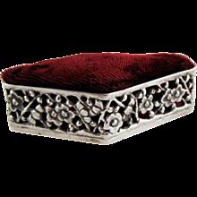Antique Pincushion China Trade Silver Wang Hing – Cherry Blossom