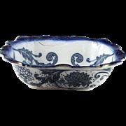 "Circa 1880 Doulton ""Boleyn"" Flow Blue  Large 16 ½"" Basin Bowl"