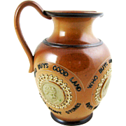 Victorian Doulton Lambeth Motto Jug Pitcher