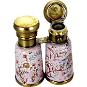 Victorian Silver Enamel Perfume Scent Bottle – Form of Opera Glasses