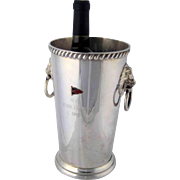 Wallace Champagne Wine Cooler – Flag - Trophy – Silver Plate