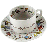 Vintage Fortune Teller Tea Leaf Reading Cup Saucer