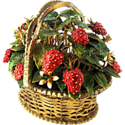 1970 Jane Hutcheson Jeweled Strawberry Basket