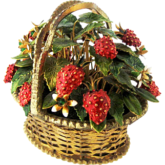 1970 Jane Hutcheson Jeweled Strawberry Basket
