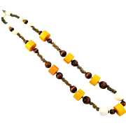 Funky Vintage Long Bead Necklace