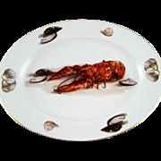 "Large Seafood Lobster Platter – JWK Bavaria Germany – 14 ½"""