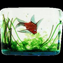 Mid Century Fish Aquarium Murano Cenedese