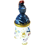 C 1770 Battersea Enamel Medieval Knight Mustard Pot